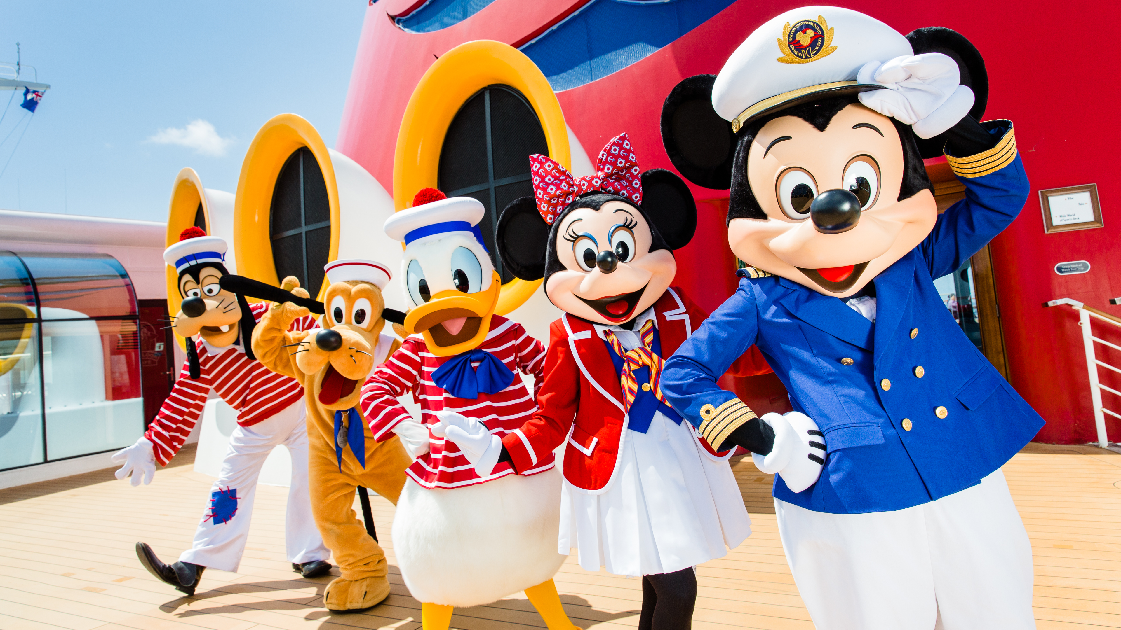 Mickey and Friends on Disney Cruise Line